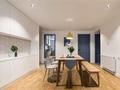选择清冷蓝色+木地板,照样美翻天!