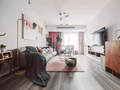 北欧风两居室,樱花粉+高级灰+大白墙
