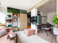 45㎡ 一室户,电视墙这样设计空间大一倍