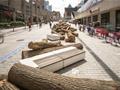 KANVA | 蒙特利尔原木艺术景观装置