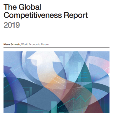 【世界经济论坛:2019年全球竞争力報告】報告显示,尽管全球金融危机已过去十年,各国央行推出了10万亿美元的财政激励方案,但大多数经济体的生产力增长依旧停滞不前,能够利用自身竞争力来进展绿色经济、提高社会凝聚力的国家最能抵御全球经济衰退。